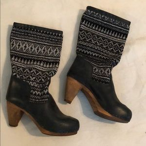 Anthropologie Winter Clog Boots